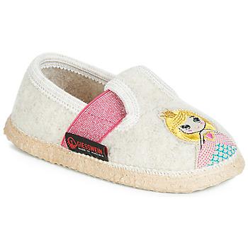 Zapatos Niña Pantuflas Giesswein THURNAU Beige