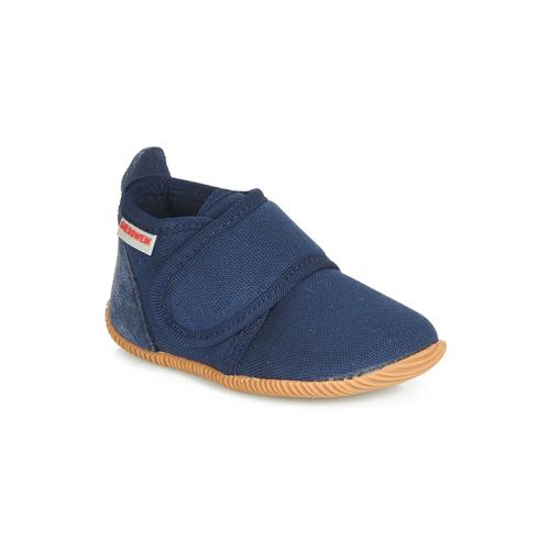 Zapatos Niño Pantuflas Giesswein STRASS SLIM FIT Marino