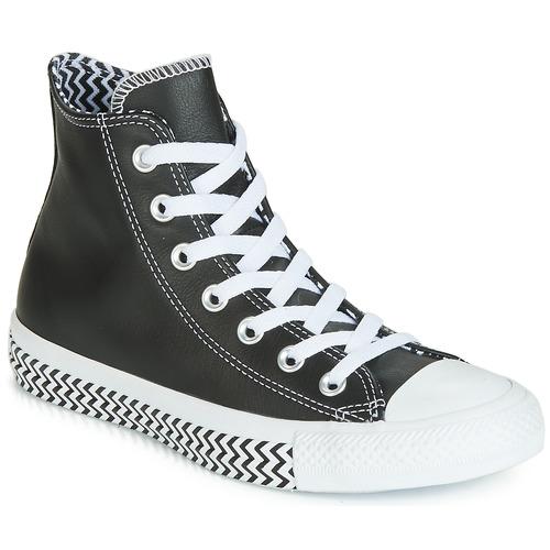 Zapatos Mujer Zapatillas altas Converse CHUCK TAYLOR ALL STAR VLTG LEATHER HI Negro
