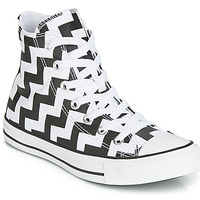 Zapatos Mujer Zapatillas altas Converse CHUCK TAYLOR ALL STAR GLAM DUNK CANVAS HI Negro / Blanco
