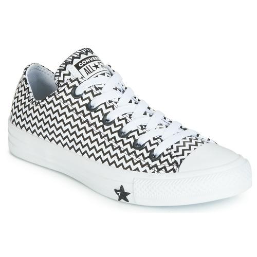 Zapatos Mujer Zapatillas bajas Converse CHUCK TAYLOR ALL STAR VLTG LEATHER OX Blanco / Negro
