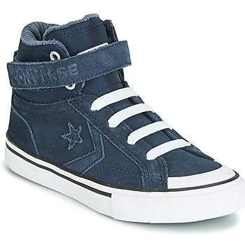 Zapatos Niños Zapatillas altas Converse PRO BLAZE STRAP SPACE RIDE SUEDE HI Azul
