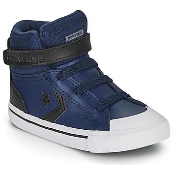Zapatos Niños Zapatillas altas Converse PRO BLAZE STRAP MARTIAN LEATHER HI Azul / Negro