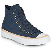 Zapatos Mujer Zapatillas altas Converse CHUCK TAYLOR ALL STAR VACHETTA LEATHER HI Marino