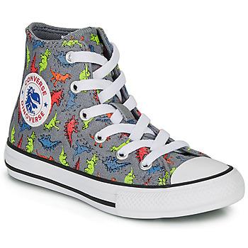 Zapatos Niño Zapatillas altas Converse CHUCK TAYLOR ALL STAR DINOVERSE HI Gris