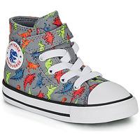 Zapatos Niño Zapatillas altas Converse CHUCK TAYLOR ALL STAR 1V DINOVERSE HI Gris
