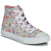 Zapatos Niña Zapatillas altas Converse CHUCK TAYLOR ALL STAR LLAMA HI Gris / Multicolor