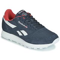 Zapatos Zapatillas bajas Reebok Classic CL LEATHER MU Marino / Rojo