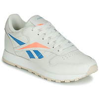 Zapatos Mujer Zapatillas bajas Reebok Classic CL LTHR Beige / Azul / Naranja