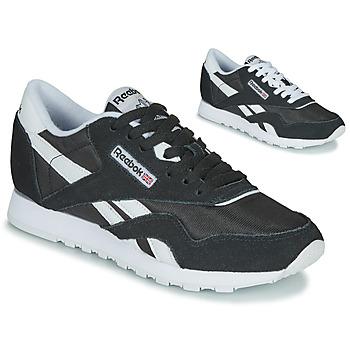 Zapatos Mujer Zapatillas bajas Reebok Classic CL NYLON Negro / Blanco