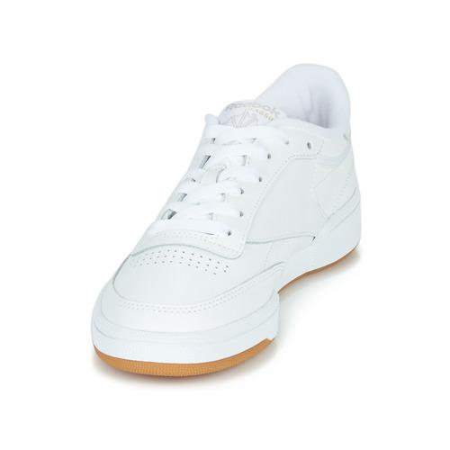 Club Zapatos Bajas Zapatillas Mujer Reebok C 85 Blanco Classic qUMVpSz