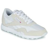 Zapatos Niños Zapatillas bajas Reebok Classic CL NYLON J Blanco / Beige