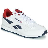Zapatos Niños Zapatillas bajas Reebok Classic CLASSIC LEATHER J Blanco / Rojo