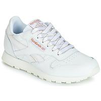 Zapatos Niña Zapatillas bajas Reebok Classic CLASSIC LEATHER J Blanco / Glitter