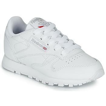 Zapatos Niños Zapatillas bajas Reebok Classic CLASSIC LEATHER C Blanco