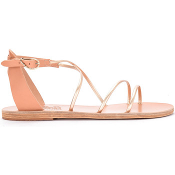 Zapatos Mujer Sandalias Ancient Greek Sandals Sandalia Meloivia de piel platino Dorado