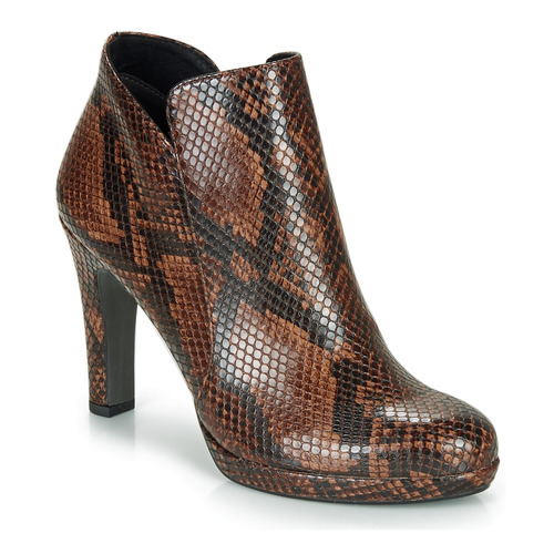 Zapatos Botines Lycoris MarrónSerpiente Tamaris Mujer TlcFKJ1