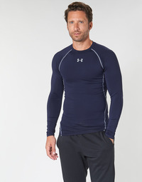 textil Hombre Camisetas manga larga Under Armour HEATGEAR ARMOUR LS COMPRESSION Marino