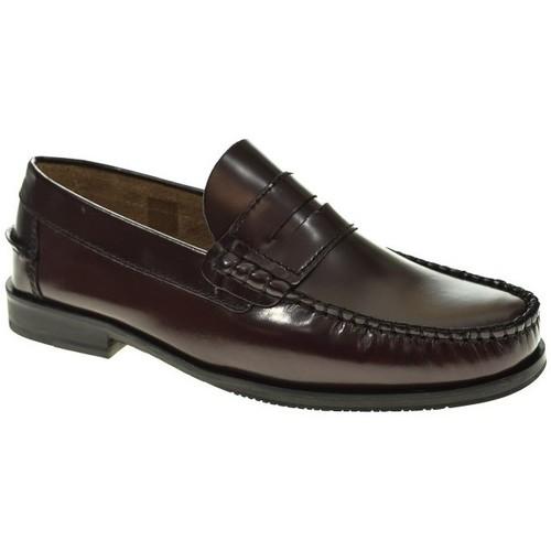 Zapatos Hombre Mocasín Fleximax SIN CORDON  BURDEOS Violeta