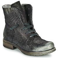 Zapatos Mujer Botas de caña baja Papucei MAURA BLACK SILVER Negro