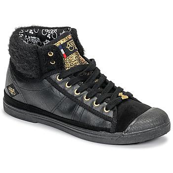 Zapatos Mujer Zapatillas altas Le Temps des Cerises BASIC 03 Negro
