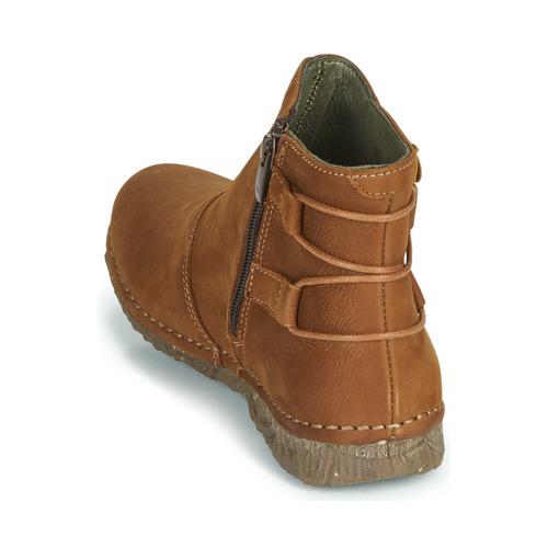 De Zapatos Caña Naturalista Angkor Botas Marrón Mujer Baja El rdBoCxe