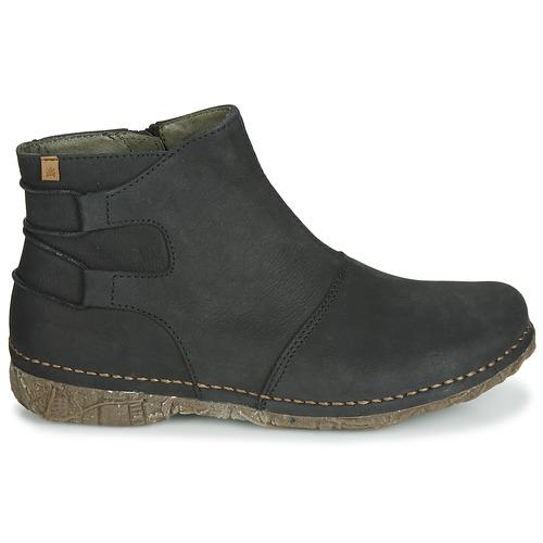 Botas Negro De Caña Mujer El Baja Naturalista Angkor Zapatos Kc13TFJul