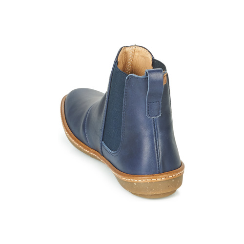 Coral De Mujer Baja Naturalista Azul El Caña Zapatos Botas Nw08mn