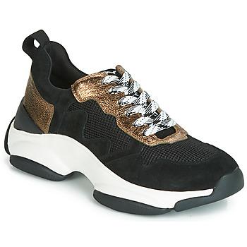 Zapatos Mujer Zapatillas bajas Mam'Zelle HELIUM Negro / Bronce