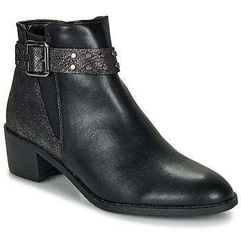 Zapatos Mujer Botas de caña baja Moony Mood FLOURETTE Negro