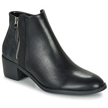 Zapatos Mujer Botas de caña baja Moony Mood FALINE Negro