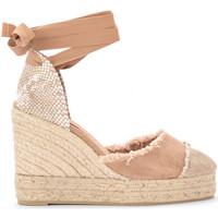 Zapatos Mujer Alpargatas Castaner Sandalia con cuña Catalina de tela y yute natural Natural