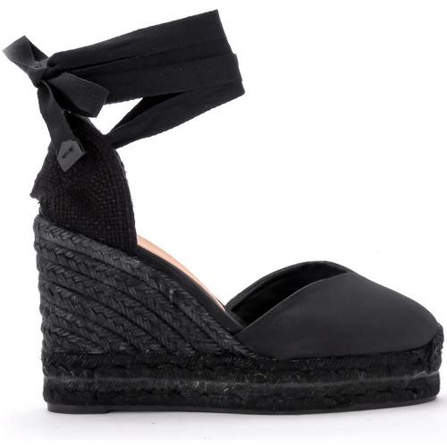 Zapatos Mujer Alpargatas Castaner Sandalia con cuña Chiara de canvas negro Negro