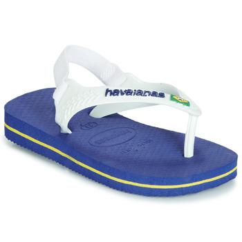 Zapatos Niños Sandalias Havaianas BABY BRASIL LOGO Marino