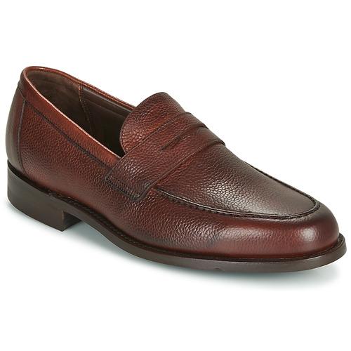 Barker JEVINGTON Burdeo - Envío gratis | ! - Zapatos Mocasín Hombre