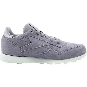 Zapatos Niños Zapatillas bajas Reebok Sport CL Leather Mcc Blanco, Grises
