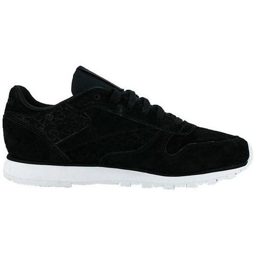 Zapatos Mujer Zapatillas bajas Reebok Sport Classic Leather Woven Emb Blanco, Negros