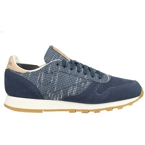 Zapatos Hombre Zapatillas bajas Reebok Sport Classic Leather Azul