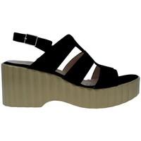 Zapatos Mujer Sandalias Wonders F-6705 Sandalias Con Plataforma de Mujer negro