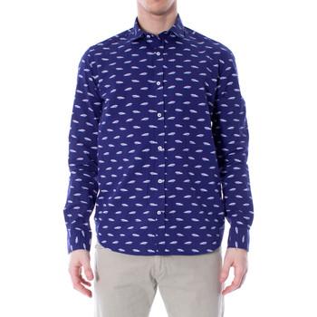 textil Hombre camisas manga larga Primate 415/L Blu