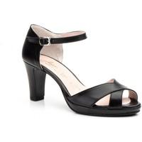 Zapatos Mujer Sandalias Annora Zapatos Zapatos de piel de mujer con tacón by Annora Negro