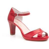 Zapatos Mujer Sandalias Annora Zapatos Zapatos de piel de mujer con tacón by Annora Rojo