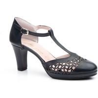 Zapatos Mujer Sandalias Annora Zapatos Zapatos de piel de mujer con tacón by Annora Azul