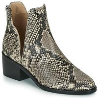 Zapatos Mujer Botas de caña baja Steve Madden CONSPIRE Beige / Serpiente