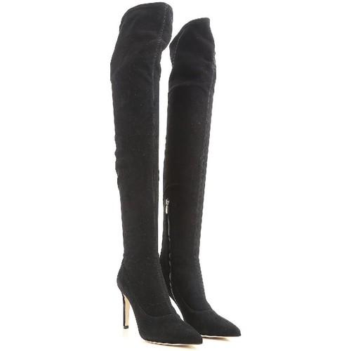 Zapatos Mujer Botas a la rodilla Sergio Rossi A64091 MAF714 1000 nero