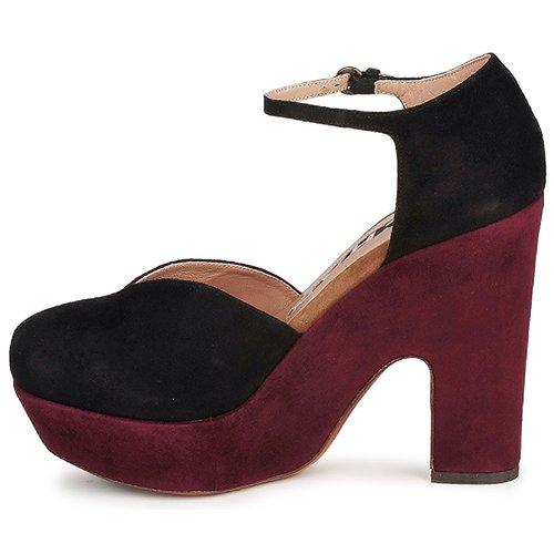 NegroBurdeo Suekid Zapatos Rochas Mujer Tacón De KclF1TJ