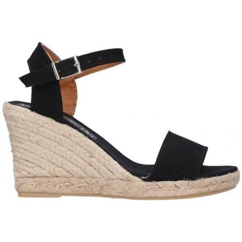 Fernandez M-35 pique 7C Mujer Negro noir - Zapatos Alpargatas Hombre