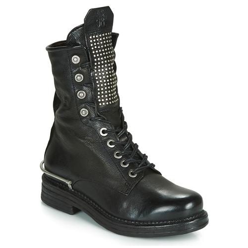 Airstep / A.S.98 BRET METAL Negro - Envío gratis | ! - Zapatos Botas de caña baja Mujer