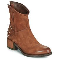 Zapatos Mujer Botas de caña baja Airstep / A.S.98 OPEA STUDS Camel