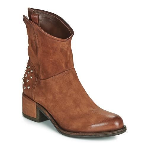 Airstep / A.S.98 OPEA STUDS Camel - Envío gratis | ! - Zapatos Botas de caña baja Mujer